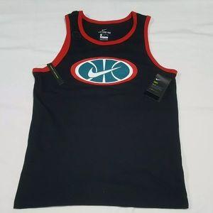 NWT Men Nike Dri-Fit Tank Top Black Red Size L